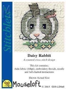 Mouseloft Daisy Rabbit Stitchlets cross stitch kit